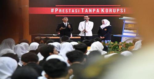 Kunjungan Pak Jokowi di SMKN 57 Jakarta Ajak Pelajar Cegah Korupsi Sejak Dini